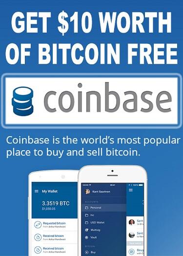 Coinbase Free Bitcoin $10